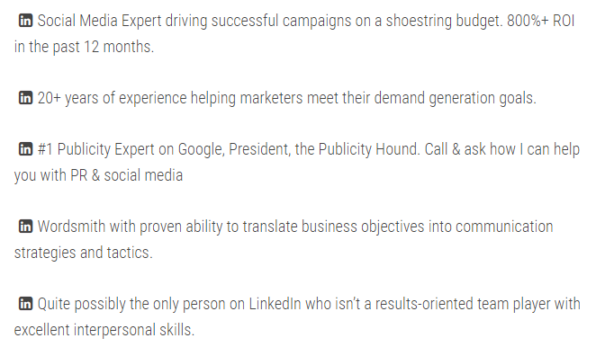 Linkedin Headline Examples 2