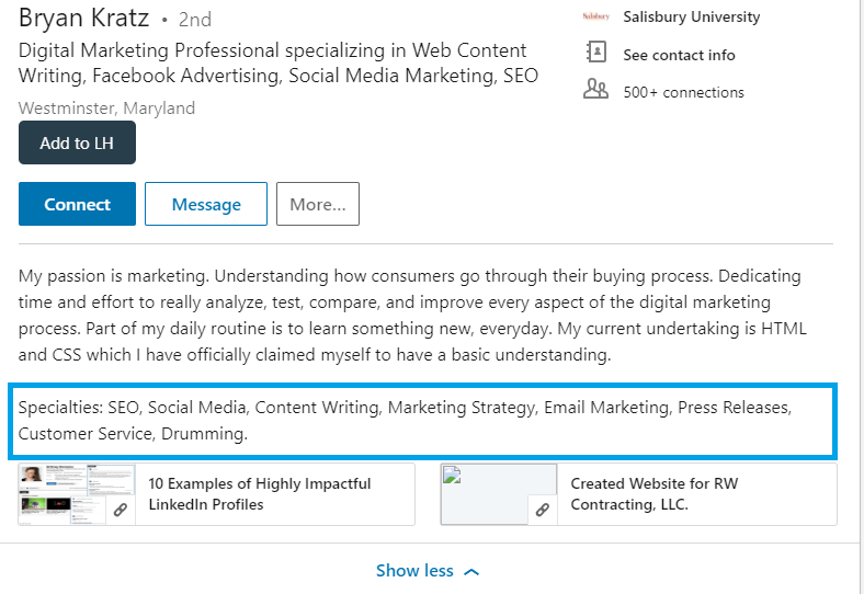 Linkedin SUmmary 3